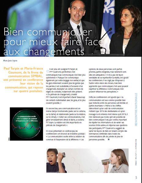 Article_Bien communiquer pour faire face aux changements_Virage