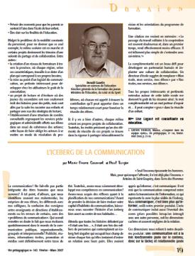 L'iceberg de la communication _ViePédagogique2007-P19